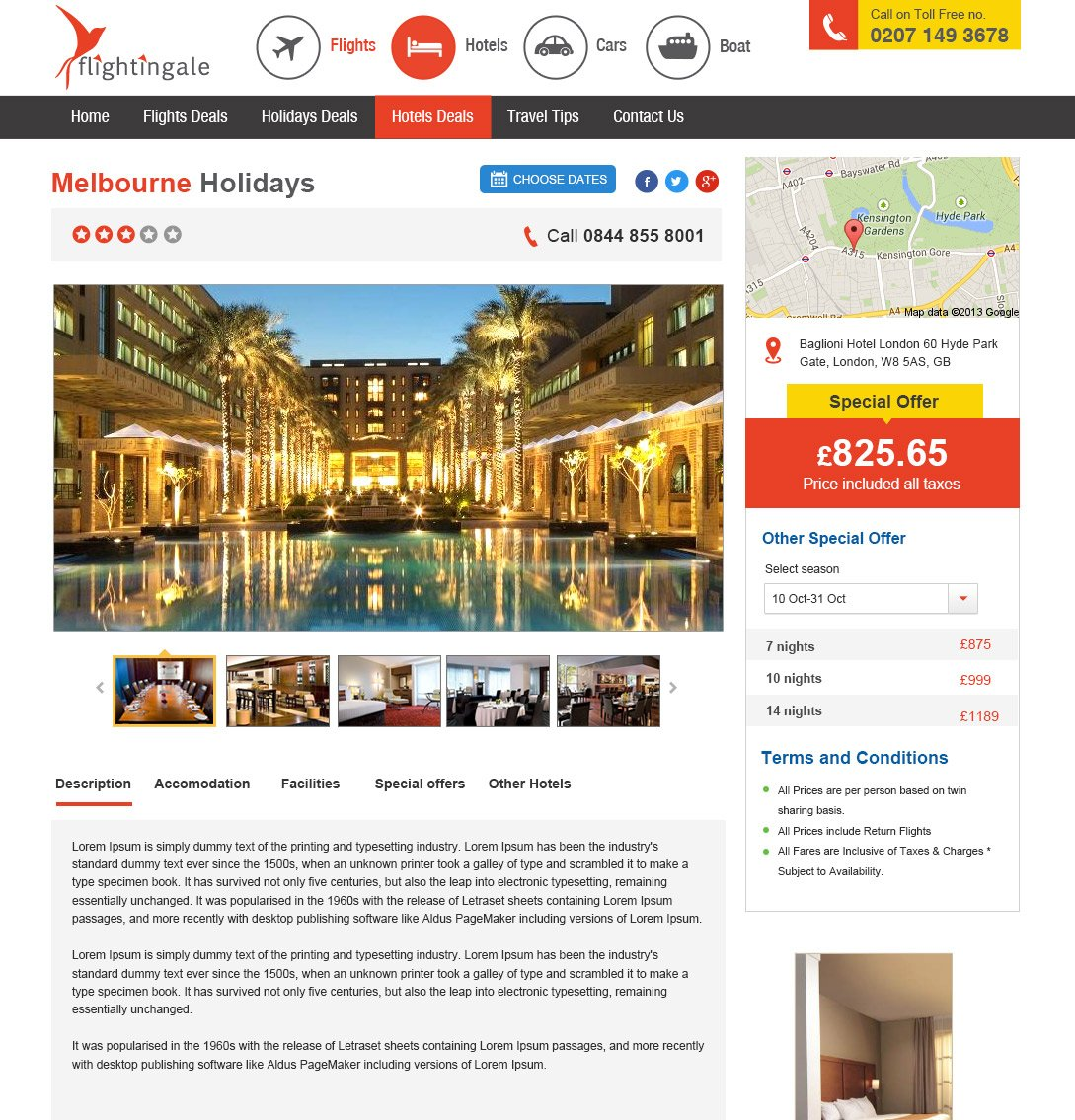 Flightingale Travel Website